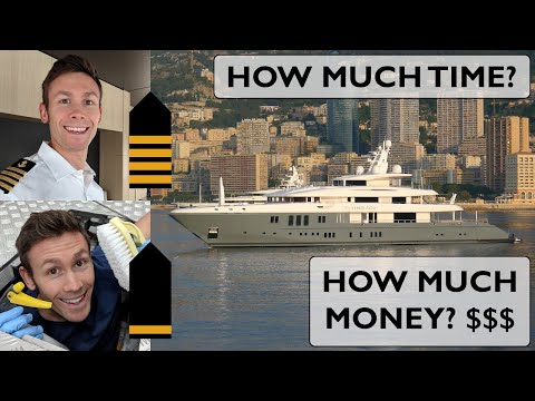How to be a yacht captain! how much time and money will it take to go from deckhand to captain?