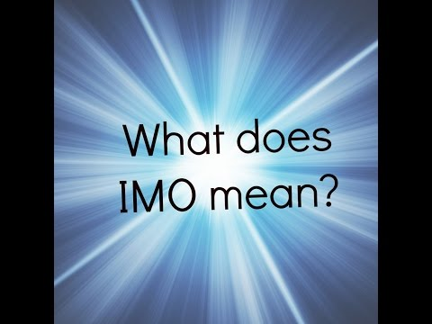 What does imo mean