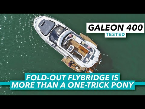The coolest 40ft flybridge on the market?   galeon 400 review and yacht tour   motor boat & yachting