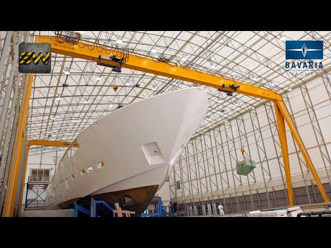 How expensive yachts are made in factories? (mega factories video)