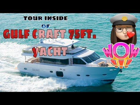 Tour at gulf craft 75exp yacht