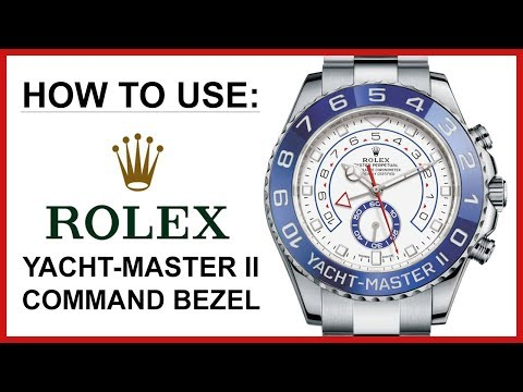 ▶ how to use: rolex yacht-master ii, instructional video for command bezel, steel oyster - 116680