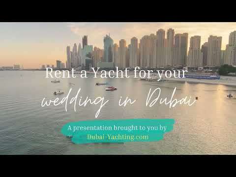 Rent a yacht for your wedding in dubai