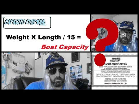How are boat capacity ratings given? what is yacht certified mean with the coast guard- or in iowa