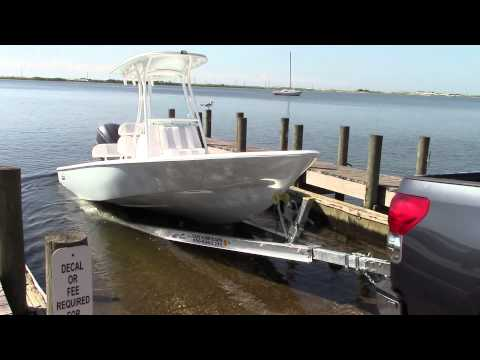 How to launch a boat by yourself. 23 cape bay from cape horn
