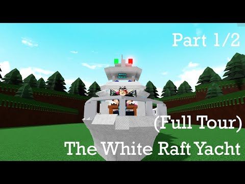 Roblox build a boat for treasure yacht. (full tour) (part 1/2)