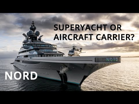 Nord | new superyacht with its own helicopter!!