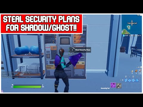 Easiest way to complete steal security plans from the rig, the yacht or the shark - fortnite