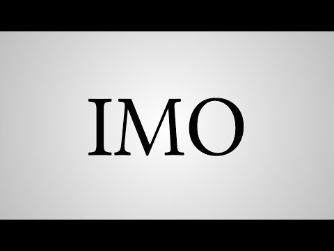 """What does """"imo"""" stand for?"""