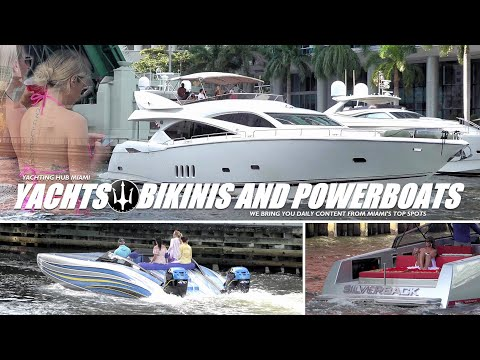 Miami river   the best yacht content   powerboats and yachts
