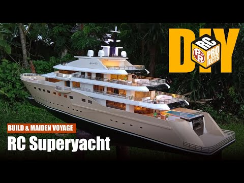 Making big rc yacht boat with foam